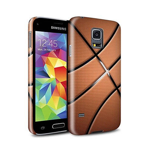 Basketball-telefon (Stuff4® Glanz Snap-On Hülle/Case für Samsung Galaxy S5 Mini/Basketball Muster/Sport Bälle/Ball Kollektion)