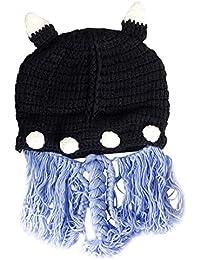 Amurleopard Bonnet tricot tresse homme femme chapeau unisexe hiver chaud Noir taille unique