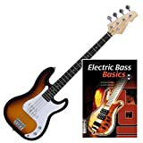 Rocktile Punsher E-Bass Sunburst SET+ Noten + CD