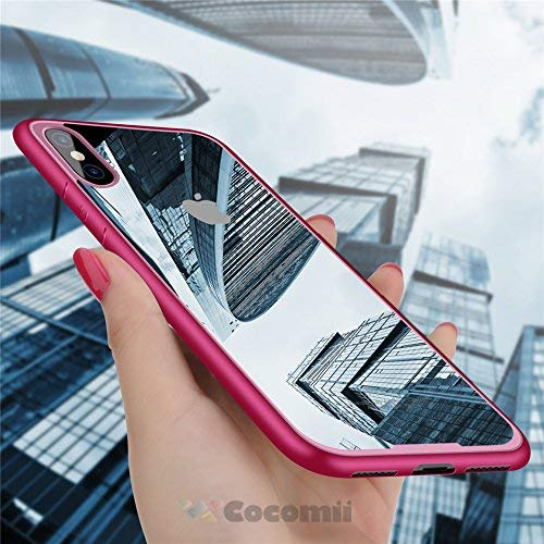 Cocomii Duotone Armor iPhone XS/iPhone X Hülle [Kristallene Klarheit] HD Anti-Vergilbung Antikratzbeschichtung Stoßfest Transparent Case Schutzhülle for Apple iPhone XS/iPhone X (Duo.Pink) Duo Shield Armor Case