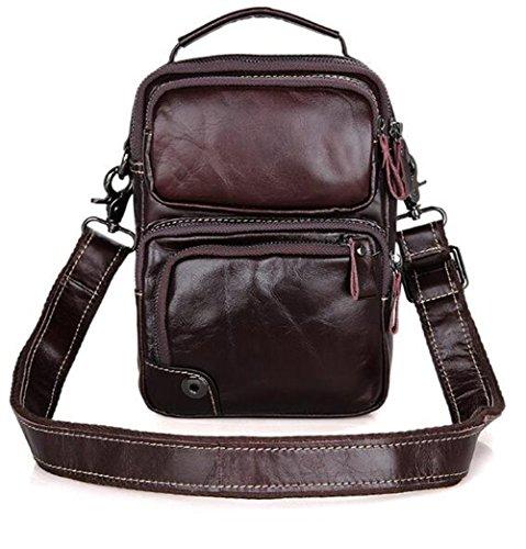MeiliYH Leder Männer Tasche Neue Rindsleder Schulter Messenger Tasche kompakte Licht Kleine Tasche Braun