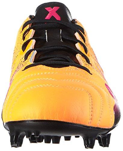 adidas X 15.1 FG/AG Leather, Chaussures de Foot Homme Multicolore - Naranja / Rosa / Negro (Dorsol / Rosimp / Negbas)