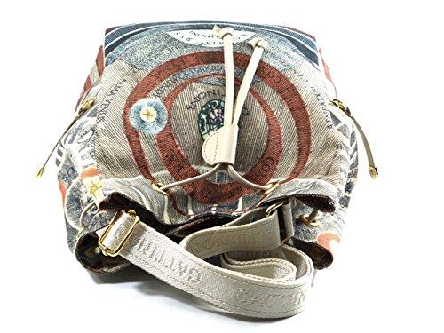 Borsa a Secchiello tessuto | Gattinoni Planetarium Soft | 21 x 31 x 18 cm Beige