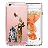blitz-versand-germany Blitz JEDI STAR WARS Schutz Hülle Transparent TPU Cartoon Comic iPhone  M16 iPhone 6 6s