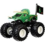 Mattel Hot Wheels Monster Jam Monster-Truck mit Team Flagge (Jurassic Attack)