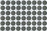 KwikCaps® PVC Aluminium Glatt Selbstklebende 3M Schrauben-Abdeckungen Abdeckkappen Nägel Cam flach [54 Stk. x 20 mm Durchmesser]