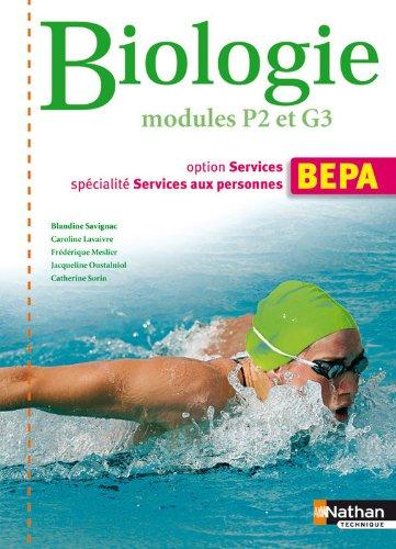 Biologie - Module P2 et G3 -BEPA