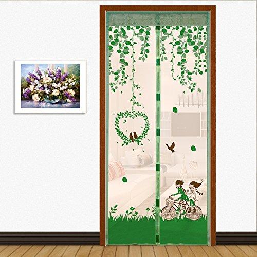 Full-frame velcro Türen für häuser bildschirm,Türen mit magneten bildschirm Velcro magnetische tür siebgewebe Sommer] Abgeschnitten Der moskito Tür vorhang Bildschirm-E 85x200cm(33x79inch)