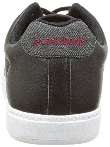Le Coq Sportif Herren Courtcraft S/2 Tones Sneakers Schwarz (Black)