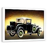 Feeby Quadro Cornice Bianca XXL Auto Sportive Poster Multicolore 120x80 cm