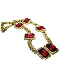 Para hombre 86,36 cm, longitud 14 K chapado en oro cadena Rolex Link HipHop Bling