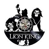 Reloj de pared de vinilo rey León Creative Record reloj