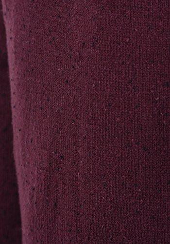 BLEND Gabrio Herren Strickpullover Feinstrick Pulli mit Nap-Yarn und Rundhals-Ausschnitt aus hochwertiger Baumwollmischung Wine Red (73812)