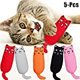 Legendog Cat Catnip Toys, 5 Pack Cat Toys Cartoon Square Catnip Pillow Cat Toys for indoor cats Catnip-Keep Teeth Cleaning-Relieve Anxiety
