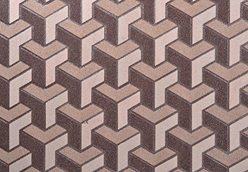 SCPL Vitrified Tile Mosaic (300 mmx 300 mm Inter Lock, Brown)