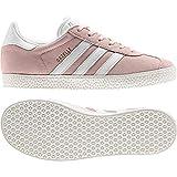 Adidas Gazelle J, Zapatillas de Gimnasia Unisex Niños, Rosa (Icey Pink F17/Ftwr White/Gold Met. Icey Pink F17/Ftwr White/Gold Met.), 38 EU