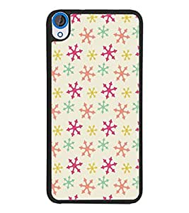 PrintDhaba Pattern D-5263 Back Case Cover for HTC DESIRE 820 (Multi-Coloured)