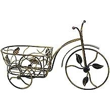 Macetero bicicleta forja pátina dorada (36x11x24.5)