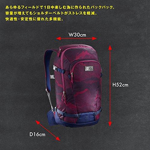 Imagen de salomon bag side 25   , unisex adultos , rojo  beet red/medieval blue  alternativa