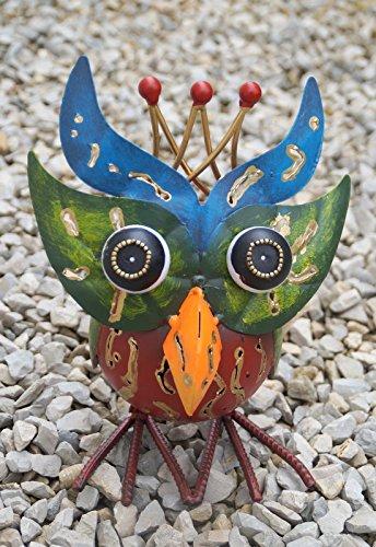 Dekofigur Eule Hedwig, Gartenfigur aus Metall, GD130