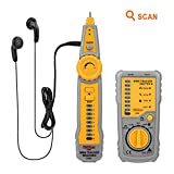 Tacklife CT01 Localizador Comprobador Buscador de Cables LAN RJ45 o de Teléfonos RJ11, comprobación de continuidad, indicador de batería baja capacida