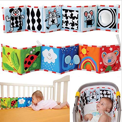 G-Tree-Baby-Krippe-Tuch-Buch Animal Puzzle Spielzeug, Baby-Bett-Galerie Ideal für Kinder Kleinkinder Schulentwicklung - Neugeborene Rattle Krippe Bett Galerie Bumper Pad