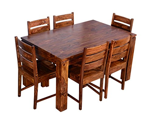 Ringabell Modish Ring1150000365 Six Seater Dining Table Set (Brown)
