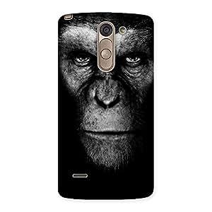 Gorgeous Chimp King Black Back Case Cover for LG G3 Stylus