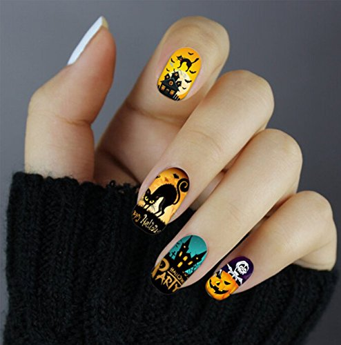 Halloween Cartoon Nagel Aufkleber Dekoration Halloween leuchtend - QJ-Q081 Nail Sticker Tattoo - FashionLife