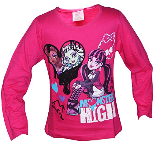 Girls Monster High Long Sleeve T Shirt (10 Years, Pink)