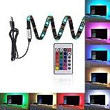 WENSENY 200cm (78 pollice) Retroilluminazione LED Multicolore 5V Striscia USB Flessibile Impermeabile USB5050 RGB Tagliabile E Telecomando 24 Keys Incluso