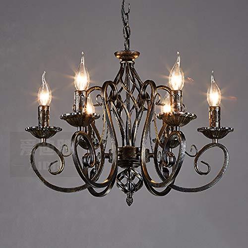 Gusseisen Decke Beleuchtung (Hdmy Edison Loft Industrie Glas Schmiedeeisen Pendelleuchte Postmodern Kreative Persönlichkeit Kerzenständer Lampe Thema Hotel Restaurant Decke Kronleuchter)