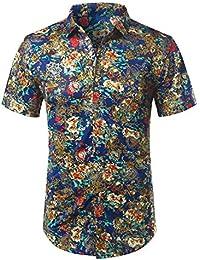 ca8e0428ee0 NSSY Camisa de Hombre Camisa de Verano para Hombre para Hombre