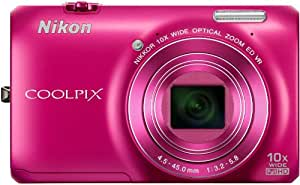 Nikon COOLPIX S6300 Compact Digital Camera - Pink (16MP, 10x Optical Zoom) 2.7 inch LCD