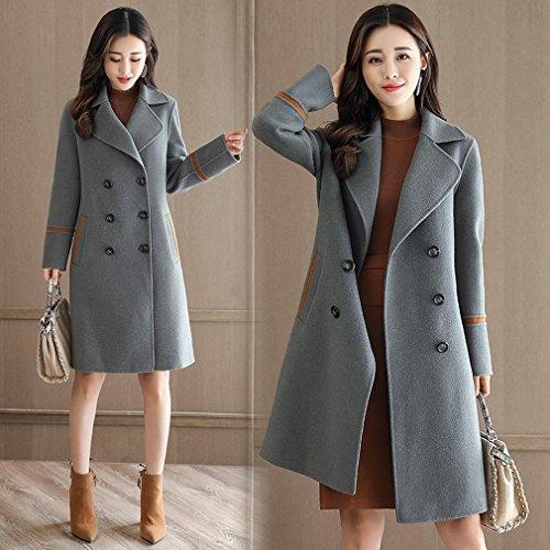 11561ddef396 GZ Thin Slim Temperament Jacket Women Long Coat,A,L