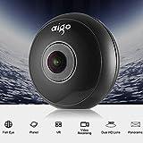 Caméra 360, Aigo Camera VR 360 avec quatre effets de l'objectif et USB type C et Micro USB pour Camping / Chasse / Concerts / Sports / Tourisme etc