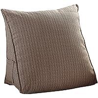 eonshine morbidi Lino in microfibra imbottito Triangolo Wedge Bloster Cuscino per letto divano schienale lettura, confezione da 1, Microfibra, Khaki,