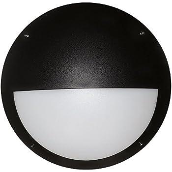 Saxby seran 12w eyelid matt black ip44 flush indoor outdoor bulkhead led outdoor bulkhead 12 watt eyelid black ip66 aloadofball Images