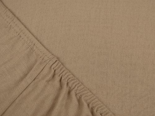 npluseins klassisches Jersey Spannbetttuch - erhältlich in 34 modernen Farben und 6 verschiedenen Größen - 100% Baumwolle, 90-100 x 200 cm, hellbraun - 4