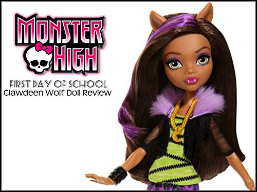 First Day of School Clawdeen Wolf Doll Review (Clawdeen Wolf Outfits)