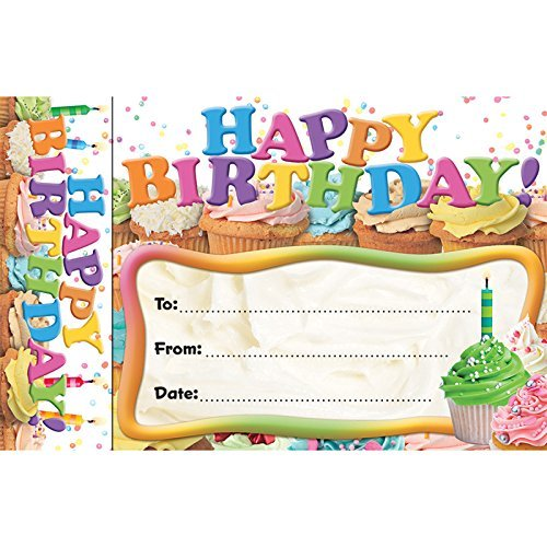 Edupress Bookmark Awards Happy Birthday Cupcakes -