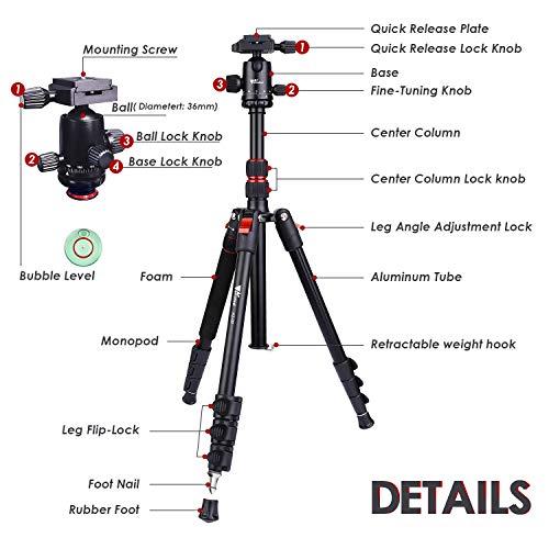 Zoom IMG-1 treppiede per fotocamera amzdeal in