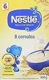 NESTLÉ Papilla 8 cereales - Alimento para Bebés - Paquete de 6 x 600 gr - Total: 3.6 kg