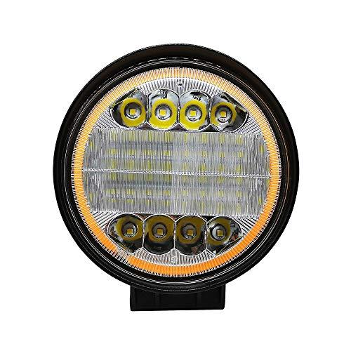 Jiangyinshiaotejiamaoyiyouxiangongsi Faro da Lavoro a LED Bicolore Tondo da 72W Proiettore da Guida Dorato Bianco Puro Giallo Dorato per Auto/Camion/Fuoristrada/Fuoristrada/Trattore Lunga Durata