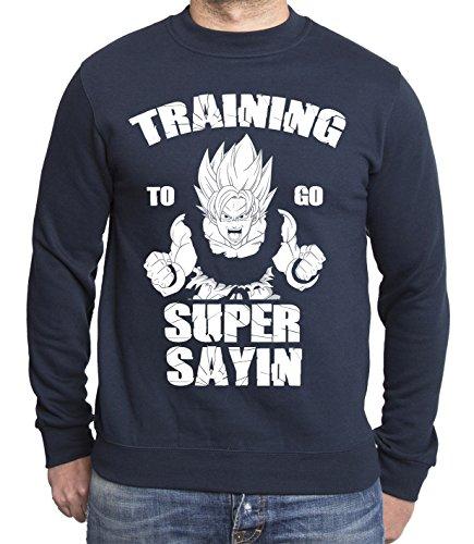 train-super-sayin-sudadera-de-hombre-goku-dragon-master-son-ball-vegeta-turtle-roshi-db-farbe2azul-o