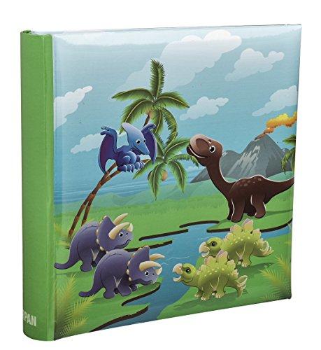 Arpan Einsteckfotoalbum, klein, Design Dinosaurier, für 200 Fotos, für Kinder, 10 x 15 cm (Schlanke Grafiken)