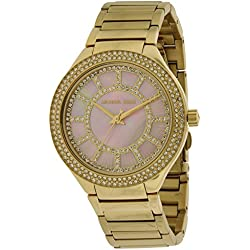 Michael Kors MK3396 37mm Gold Steel Bracelet & Case Mineral Women's Watch