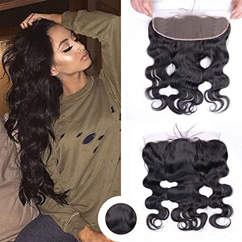 Ugeat 10 pollici free part 360 lace frontal straight 13*4 human hair capelli umani 100% non trattati extension capelli veri ricci nero naturale
