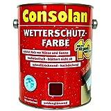 2,5 Liter Consolan Wetterschutzfarbe dunkelbraun (205) bis 10 Jahre Langzeitschutz