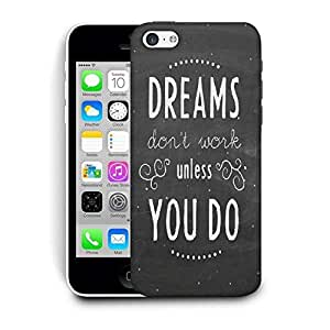 Snoogg Dreams Do Not Work Until You Do Printed Protective Phone Back Case Cover For Apple Iphone 6+ / 6 Plus